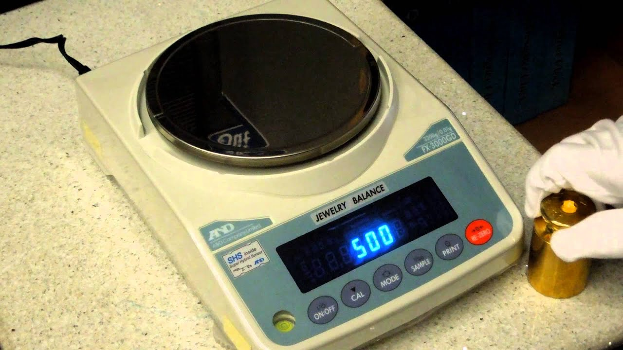 Calibration of A&D Balance FX 3000 GD.MOV - YouTube