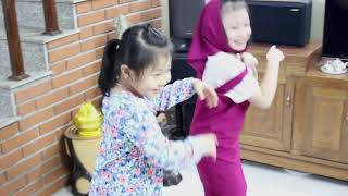 Bé Bống, bé Rùa trêu chị Nhi Nhím tức giận💗Đồ chơi trẻ em