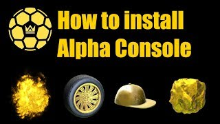 How To Download Alpha Console l Skin Changer for Rocket league