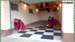 Podlaha do  garáže - dlažba Fortelock