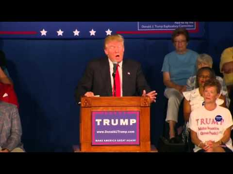 Donald Trump had a speech in South Carolina for 2016 Presidential Campaign