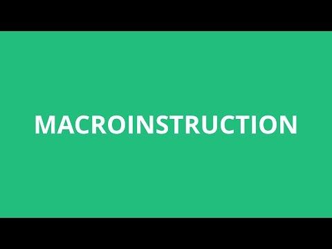 How To Pronounce Macroinstruction - Pronunciation Academy