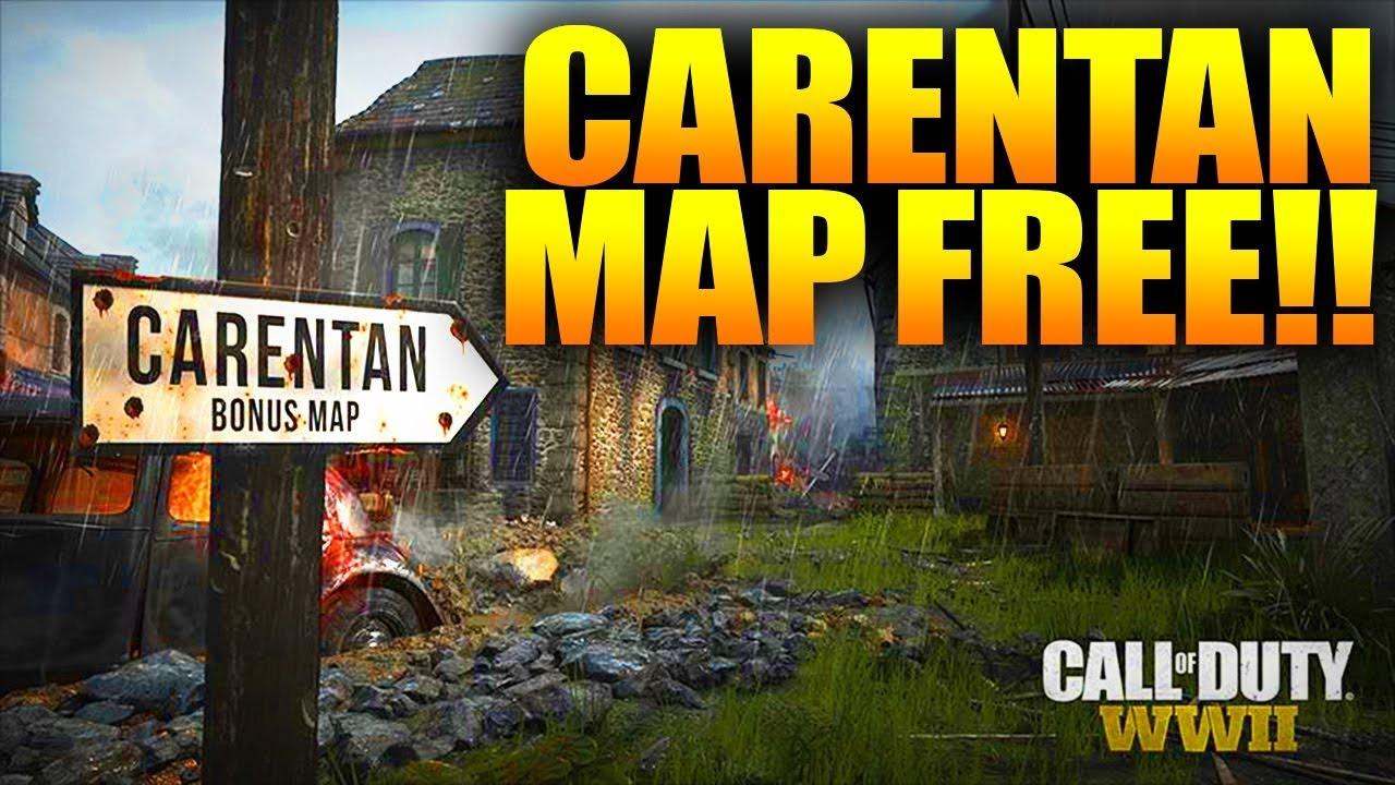 COD WW2 CARENTAN MAP FREE - WW2 FREE SEASON P MAP - YouTube Call Of Duty Free Maps on