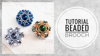 #МК - Брошь из бисера | #Tutorial - beaded brooch