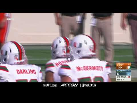 Miami vs North Carolina College Football Condensed Game 2017