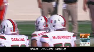 Miami vs North Carolina College Football Condensed Game 2017