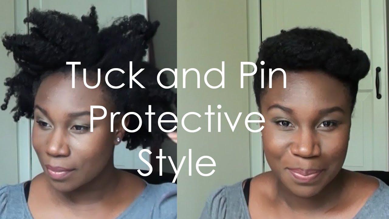 tuck&pin protective style | 4c natural hair | layefa - youtube