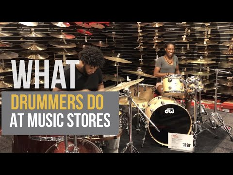 Drum Shed | What Drummers Do at Music Stores | Sam Ash / Guitar Center