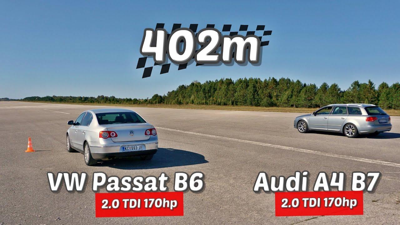 Download 402m: VW Passat B6 vs Audi A4 B7
