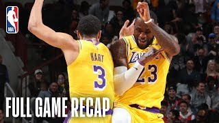 LAKERS vs BULLS | LeBron James Puts On A Dunk Show In Chicago | March 12, 2019
