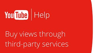 buying youtube views through third party services