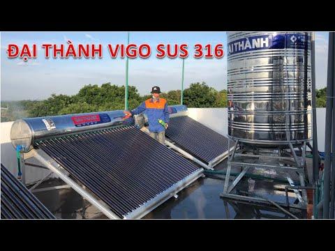 Lắp máy nước nóng mặt trời Đại Thành Vigo 300L SUS 316 cho Khách sạn, Chung cư - YouTube