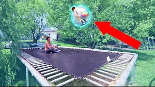 INSANE TRAMPOLINE TRICKS INSIDE WUBBLE BUBBLE BALL!
