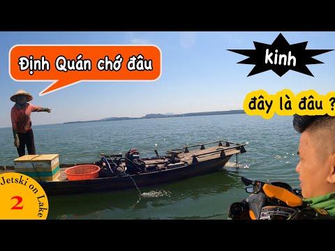 Kéo hết gaz băng ngang hồ Trị An từ Bình Dương qua Đồng Nai chỉ 8 phút