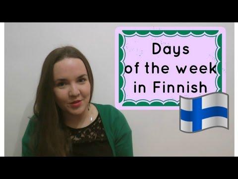 Finnish lesson 13. Days of the week. Opiskele suomea. Viikonpäivät. Уроки финского. Дни недели.