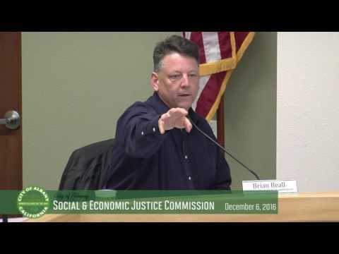 Social and Economic Justice Commission - Dec. 6, 2016