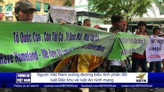 PHÓNG SỰ VIỆT NAM: Người Việt Nam xuống đường biểu tình phản đối luật đặc khu và an ninh mạng