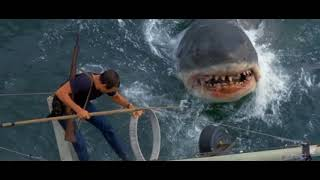 """Шериф Броуди убивает акулу""  из фильма (Челюсти 1975)"