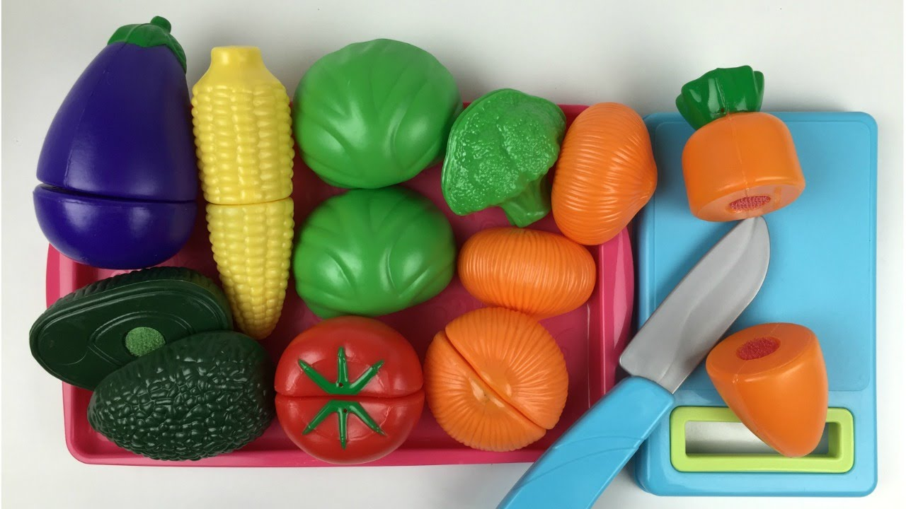 Just Like Home Velcro Toy Cutting Fruits And Vegetables