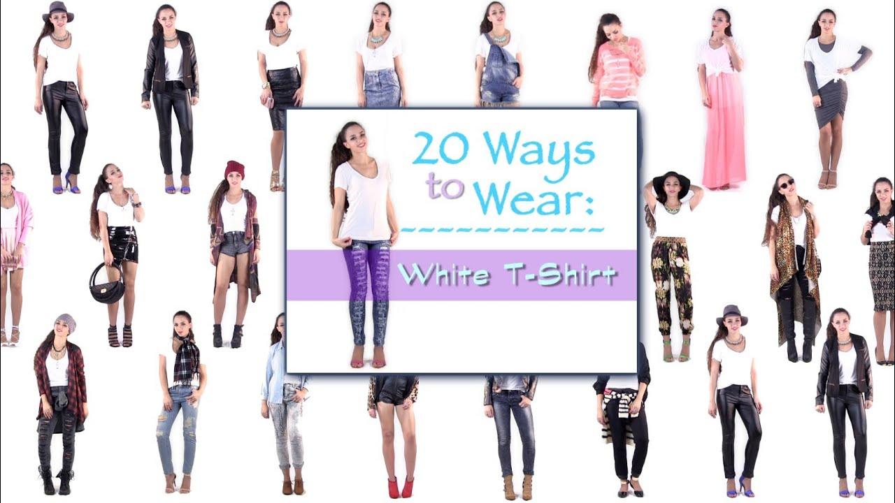 273322ed28 20 Ways to Wear a T Shirt ! Outfit Ideas How to Wear a T Shirt - YouTube