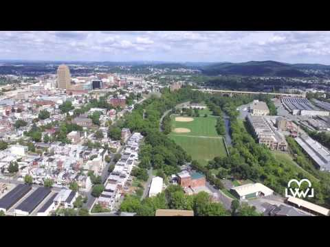Allentown, Pennsylvania from the Sky in the Summer