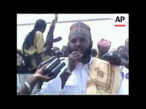 Thousands gather in support of Somalia's Islamic movement
