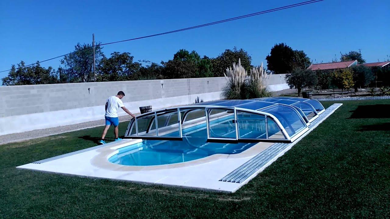 Cubiertas de piscina telesc picas modelo ibiza youtube Cubierta piscina precio