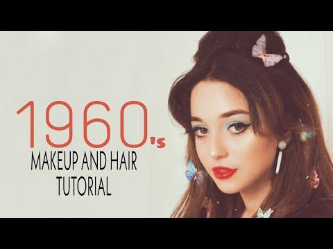 Vintage 1960s Makeup and Hair Tutorial