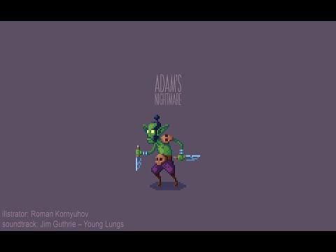 Pixel art/ Adam's Nightmare indie game/ Drawing process