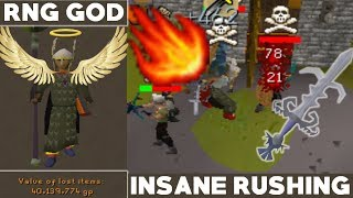 1 HITTING PKERS! FIRE SURGE To AGS Rushing OSRS | INSANE RNG