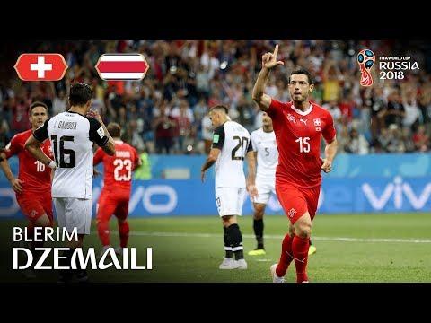 Blerim DZEMAILI Goal - Switzerland v Costa Rica - MATCH 42