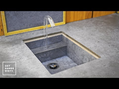 Studio Kitchen: Making a Sink, Countertop, Tap and Water Sys