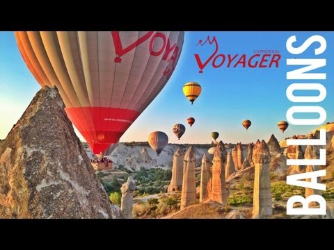 Hot Air Balloon Rides Over Cappadocia, Turkey - Timelapse