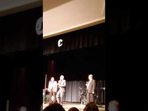 Singing Cooks along with Steve Warren at Chilhowie High School Virginia on February 21 2019