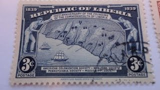 Some Old Liban/Liberia Postage Stamps