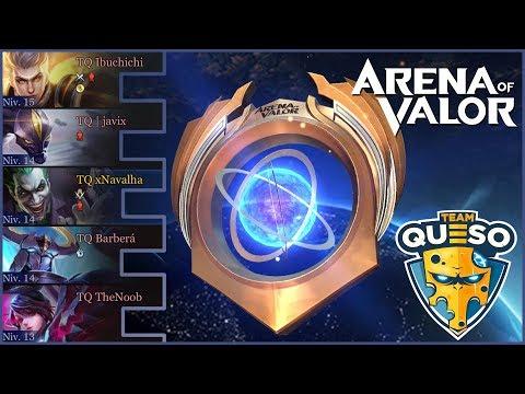 ¡¡DANDO PALIZAS EN LA VALOR CUP CON TEAM QUESO!! | Navalha - Arena of Valor