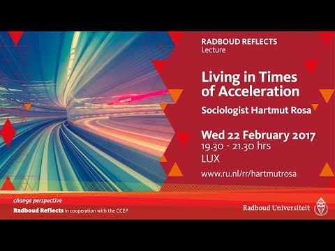 Living in times of acceleration | Lecture by sociologist Hartmut Rosa