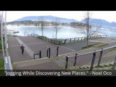 Jogging Downtown Vancouver BC Canada Cardio Workout