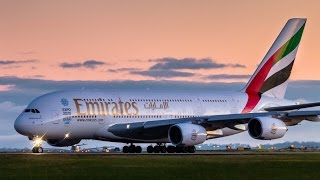 8x AWESOME A380 Takeoffs & Landings - Emirates Airbus A380 at Melbourne Airport