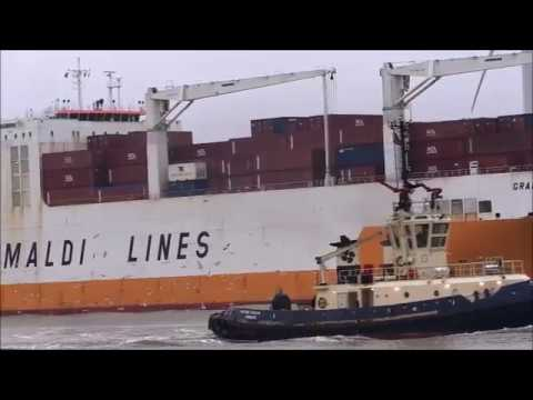 Thames Shipping by Richie Sloan The GRANDE AMBURGO leaving NFLT