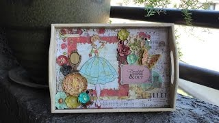 Altered Wooden Tray With Bona Rivera Tran On Live With Prima