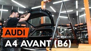 Hvordan udskiftes bagklapsdæmper / gasdæmper bagklap on AUDI A4 B6 (8E5) [GUIDE AUTODOC]