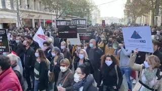 Marseille : le cortège de la manifestation est arrivé à la préfecture