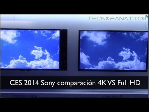 CES 2014 Comparación 4K versus Full HD en Español - YouTube