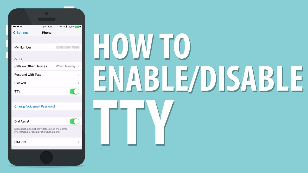 how to enable or disable tty on iphone