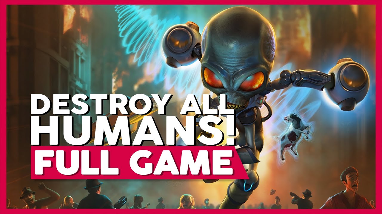Destroy All Humans! (Remake) | Full Playthrough | No Commentary [PC,PS4,XB1] (60FPS)
