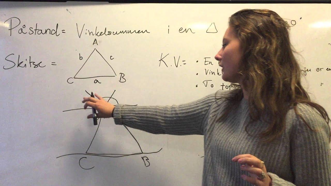 Bevis: vinkelsummen i en trekant er 180 grader (Franciska Olsen)