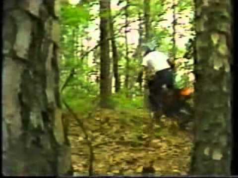 """Tom Clark splitting wood using """"Buster"""""""