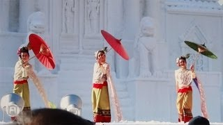 さっぽろ雪まつり タイの伝統文化舞踏 タイダンス HBCタイ王国広場