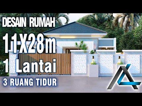 DESAIN RUMAH  11 X 28  Meter I Jawa Barat – DESAIN RUMAH TROPIS MODERN